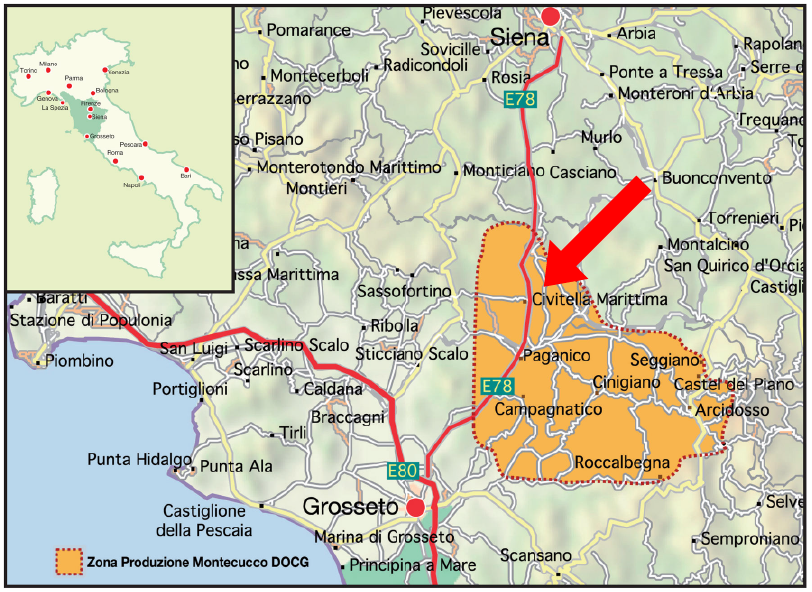 montecucco cartina 1 map